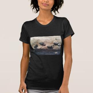 Pegadas da rocha camisetas
