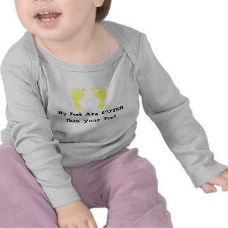 Pegadas do bebê (amarelo) tshirts