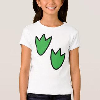 Pegadas do dinossauro camiseta