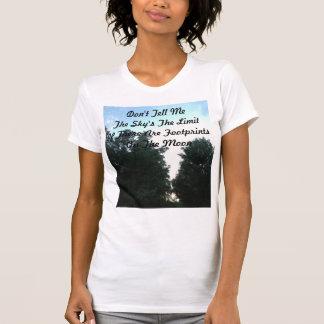 Pegadas na lua t-shirt