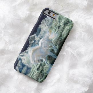 Pegasus de prata carimba a arte à terra da capa barely there para iPhone 6