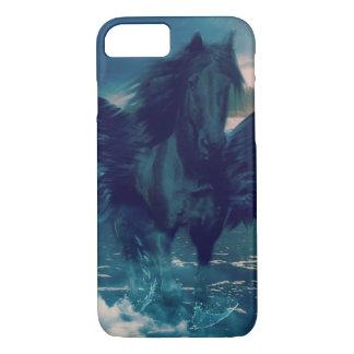 Pegasus preto que emerge do mar capa iPhone 7