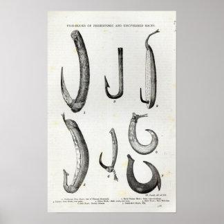 Peixe-ganchos de pré-histórico e de Uncivilised Posteres
