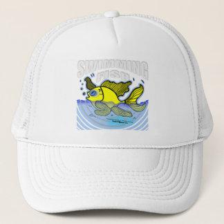 Peixes da natação boné