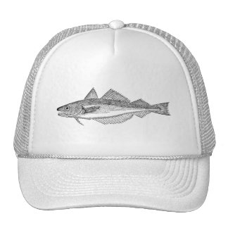 Peixes das pescadas do vintage - modelo aquático boné