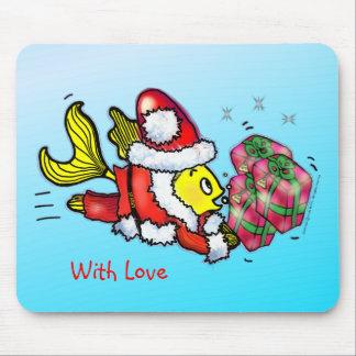 Peixes de Papai Noel - desenhos animados bonitos e Mouse Pad
