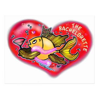 Peixes do partido de galinha de Bachelorette Cartão Postal
