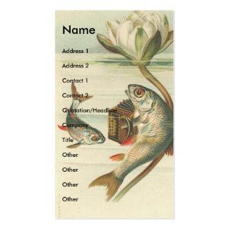 Peixes do vintage cartão de visita