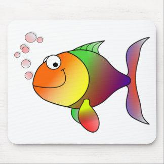 Peixes engraçados bonitos - coloridos mouse pad