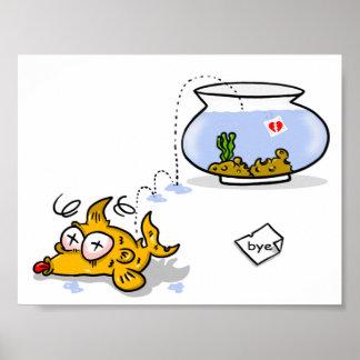 peixes engraçados poster