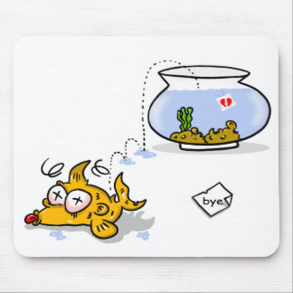 peixes engraçados mouse pads
