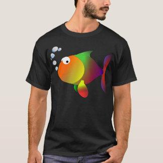 Peixes felizes engraçados t-shirt