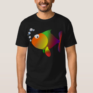 Peixes felizes engraçados tshirts