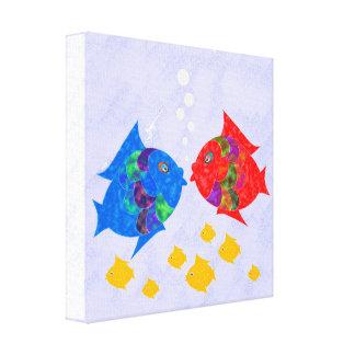 Peixes Impressão Em Canvas