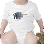 Peixes infantis personalizados bebê da borboleta camiseta