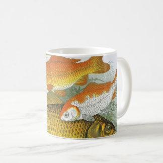 Peixes marinhos da vida marinha do vintage, peixe caneca de café
