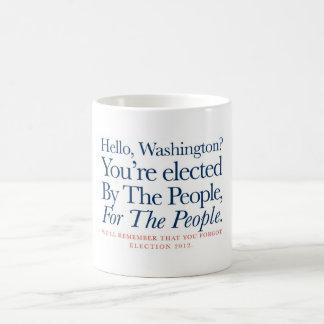 Pelas pessoas, para os povos caneca de café