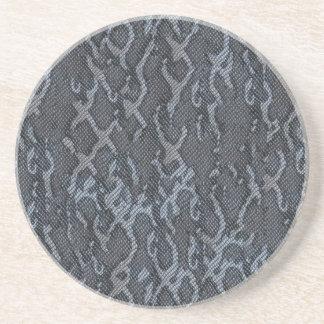 Pele de cobra cinzenta porta copos de arenito