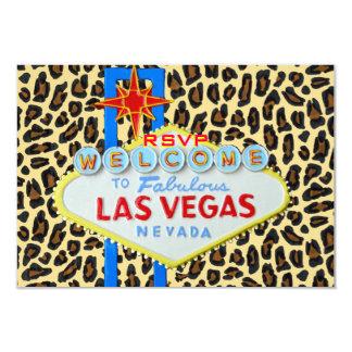 Pele do leopardo da recepção RSVP de Las Vegas Convite
