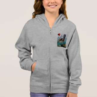 "Pelicano ""Cali "" do hoodie do fecho de correr do T-shirt"