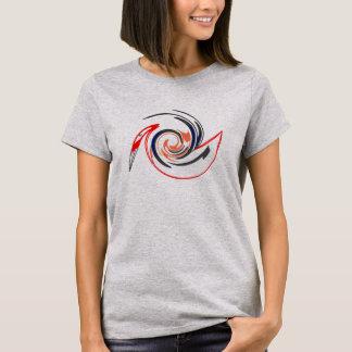 Pelicano da arte abstracta tshirt