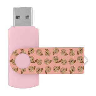 Pen Drive Animal rosa do castor Kawaii