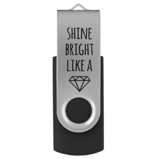 Pen Drive Brilho brilhante como uma movimentação de USB do