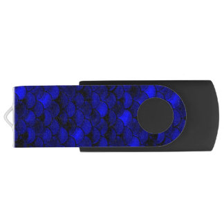 Pen Drive Escalas azuis escuro da sereia de Falln