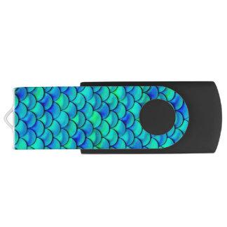 Pen Drive Escalas do azul do Aqua de Falln