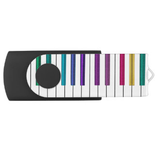 Pen Drive Giratório Movimentação colorida do flash de USB da música do