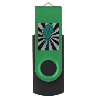Pen Drive Giratório Movimentação do flash do giro de USB dos peixes