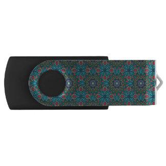 Pen Drive Teste padrão floral étnico abstrato colorido da
