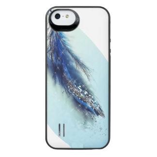 Pena azul capa carregador para iPhone SE/5/5s