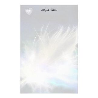 Pena e coração do anjo! papelaria