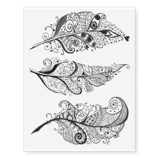 Penas de pássaro estilizados