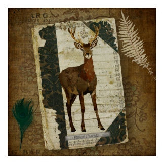 Penas poster da arte do jornal dos Antlers