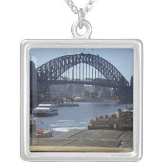 Pendente da ponte de porto de Sydney Colar Banhado A Prata