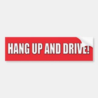 Pendure acima e conduza! Autocolante no vidro tras Adesivo Para Carro