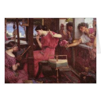 Penélope e os pretendentes cartão comemorativo