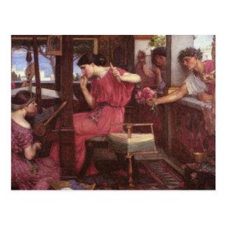 Penélope e os pretendentes cartão postal
