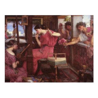 Penélope e os pretendentes - John William Cartão Postal