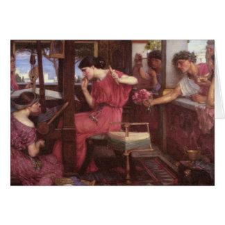 Penélope e seus pretendentes cartão comemorativo