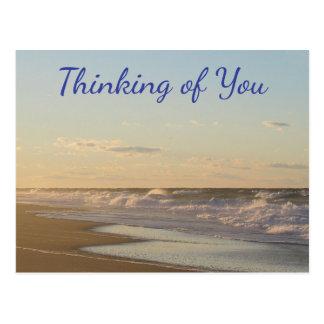Pensamento de você cartão do nascer do sol da