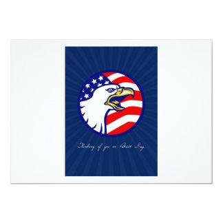 Pensamento de você no cartão do dia do patriota convite personalizados