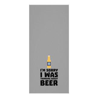 Pensamento sobre a garrafa de cerveja Z860x 10.16 X 22.86cm Panfleto