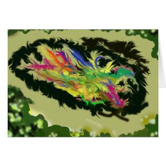 Pensando sobre ele - Absract colorido Cartão Comemorativo