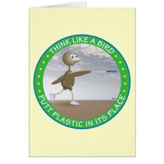 Pense como um pássaro cartão