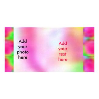 Pense cor-de-rosa - investigação do cancro do apoi cartao com foto personalizado