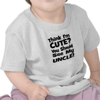 Pense que eu sou bonito?  Você deve ver meu TIO! Tshirt