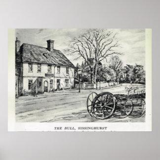 Pensões históricas, a pensão de Bull, Sissinghurst Poster